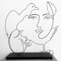 l'aigle-noir-1-sculpture-lor-laure-simoneau-aigle-noir-paris-artiste-sculpteur-portrait-femme-picasso-dessin-wire-fil-de-fer-inspiration