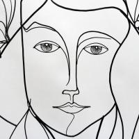 Eve-2-sculpture-wiresculpture-laure-simoneau-fil-de-fer-lor-femme-pomme-dieu-art-artiste-creation-6-jour-portrait-wire-commande-picasso-inspiration-honfleur-paris-sculpteur-fildeferiste
