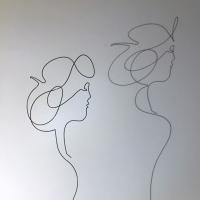 La-rose-ombre-lor-femme-laure-simoneau-sculpture-fil-de-fer-wire-art-artwork-paris-oneline-atelierlor-esthetique-geisha-fildeferiste-shadow