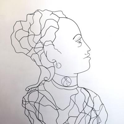 Hera-deesse-sculpture-wire-fil-de-fer-laure-simoneau-portrait-femme-monumentale-art-contemporainartiste-sculpteur-woman-personnage-grece-grecque-mariage-amour