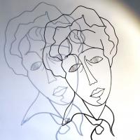 La-cravate-2-portrait-laure-simoneau-sculpture-sculpteur-fildeferiste-modigliani-commande-fil-de-fer-wire-art-acier-