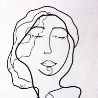 La dame du tableau bleu