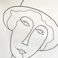 La-demoiselle-au-chapeau-2-sculpture-laure-simoneau-fil-de-fer-wire-fildeferiste-LoR