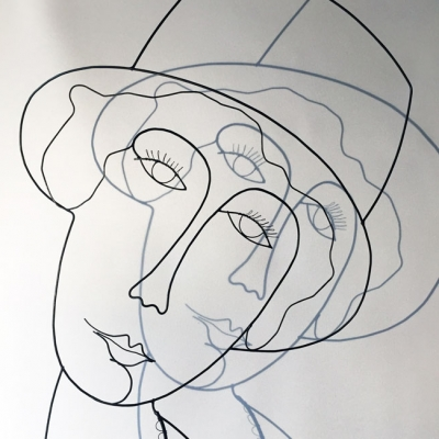 La demoiselle au chapeau