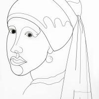 La-perle--2019-sculpture-laure-simoneau-atelier-lor-fil-de-fer-wire-portrait-monumental