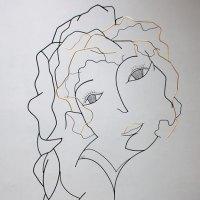 Le-silence-est-d or-1-portrait-femme-laure-simoneau-resistance-denise-vernay-LoR-sculpture-wire-fil-de-fer-feuille-carat-hommage-emotion-regard