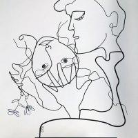 Les amants du tableau bleu