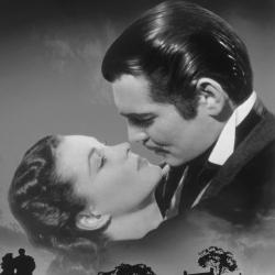 Vivien Leigh et Clark Gable