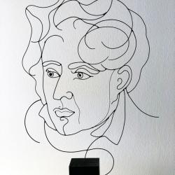 chateaubriand-portrait-sculpture-fil-de-fer-laure-simoneau-atelier-paris-lor-wire-commande-art-work-rue-saint-maur-fildeferiste-sculpteur