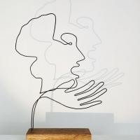 L-accueil-serie-guernica-picasso-laure-simoneau-lor-sculpture-fil-de-fer-wire-art-sculpture-artiste-espagne-guerre-paix