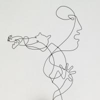 L-alliance-serie-guernica-picasso-laure-simoneau-lor-sculpture-fil-de-fer-wire-art-sculpture-artiste-espagne-guerre-paix
