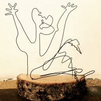 L-appel-serie-gguernica-picasso-laure-simoneau-lor-sculpture-fil-de-fer-wire-art-sculpture-artiste-espagne-guerre-paix