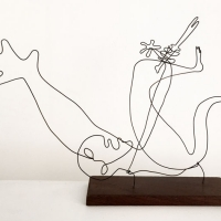 la-margurerite-serie-guernica-picasso-laure-simoneau-lor-sculpture-fil-de-fer-wire-art-sculpture-artiste-espagne-guerre-paix