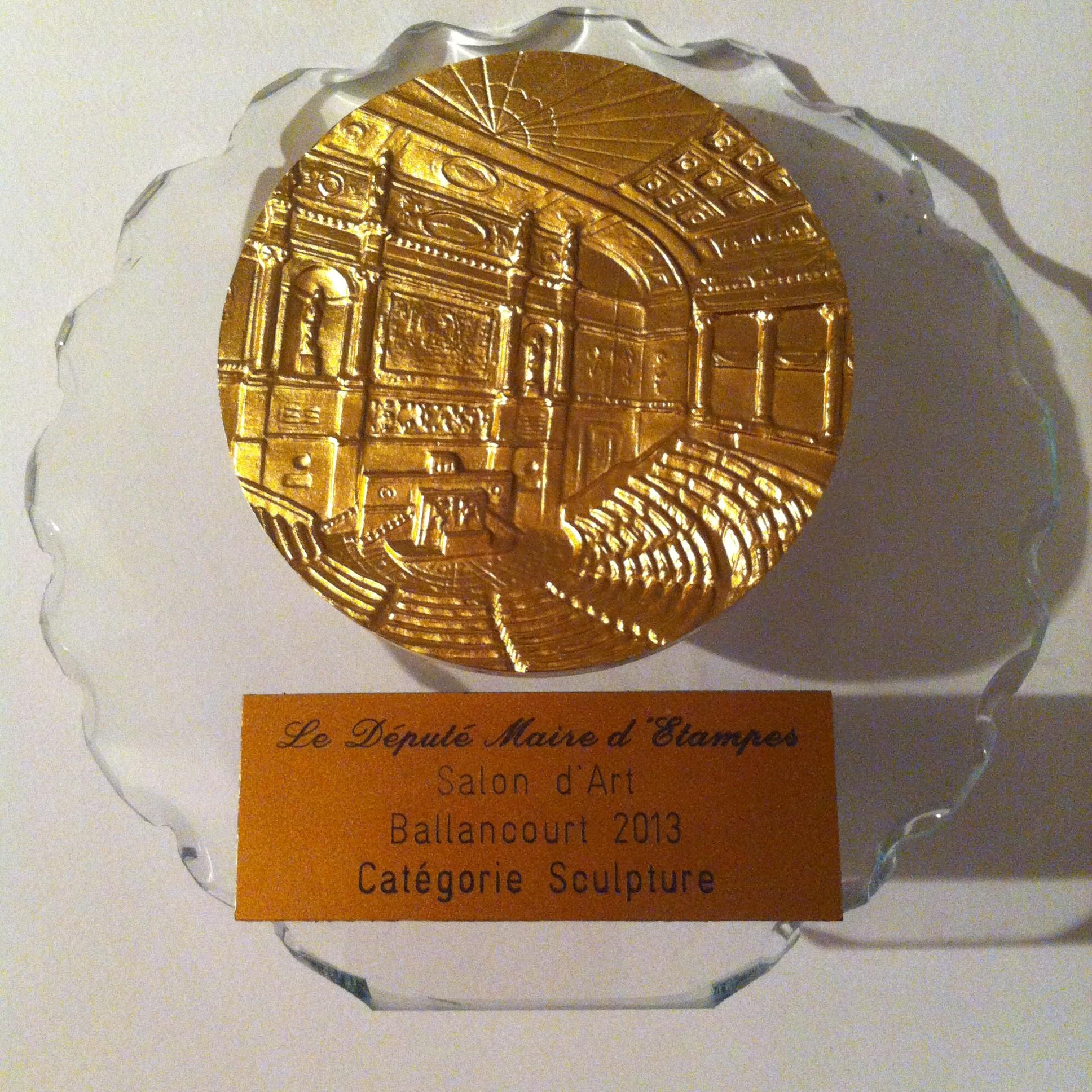 Prix Assemblée Nationale catégorie sculpture Salon d'art, Ballancourt 2013