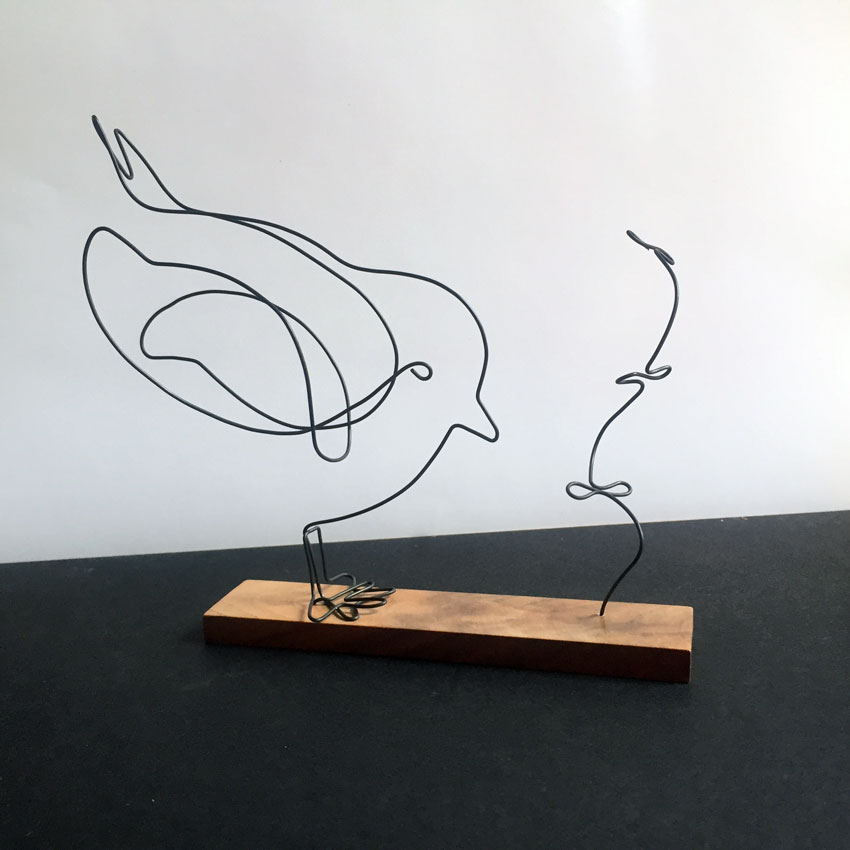 atelier lor sculptures fil de fer. Black Bedroom Furniture Sets. Home Design Ideas