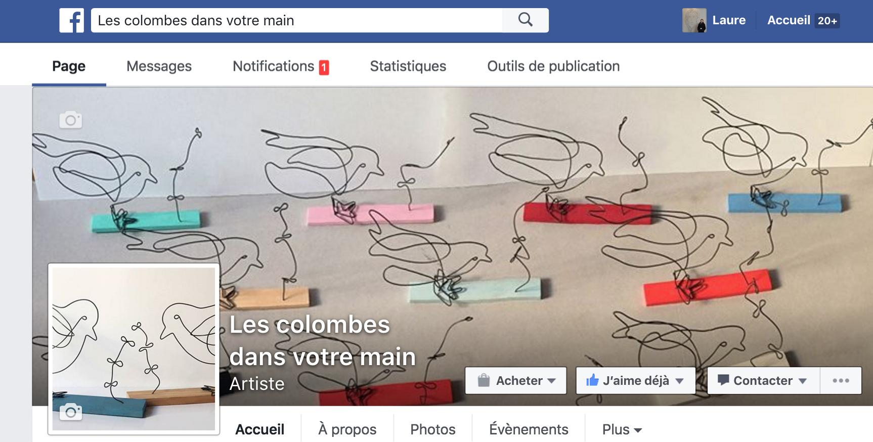facebook les colombes dans votre main