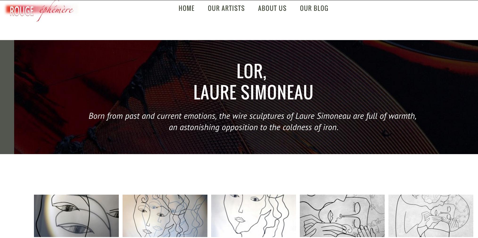 galerie rouge éphémère hong kong laure simoneau lor sculpture wire fil de fer ombre personnage portrait emotion femme poesie
